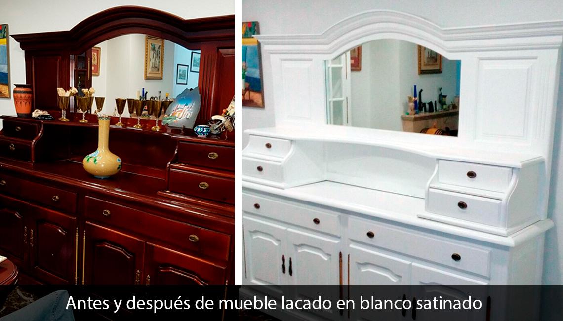 Antes despuesta mueble lacado blanco lacados trillo - Mueble lacado blanco ...