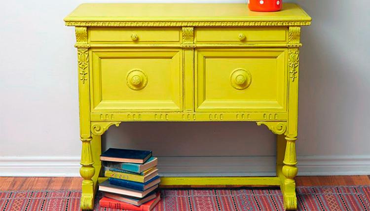 Pintar muebles con pintura a la tiza
