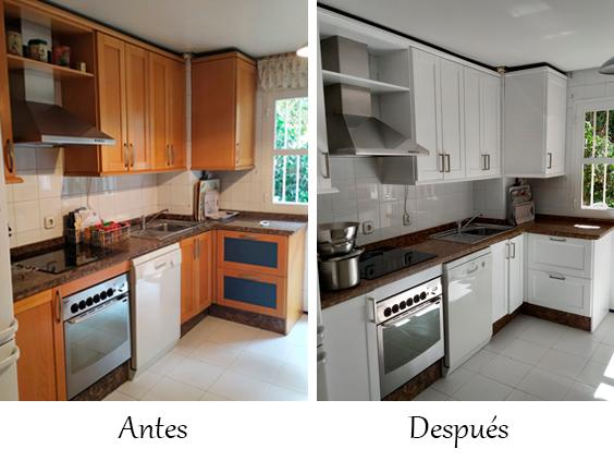 Lacar muebles cocina Sevilla